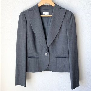 LOFT grey pleated blazer - 4